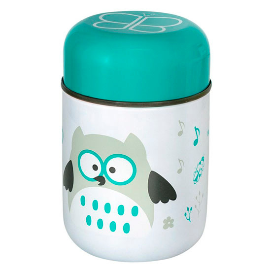 BBLuv Food Thermal Food Container with Spoon 10oz - Aqua_thumb1_thumb2