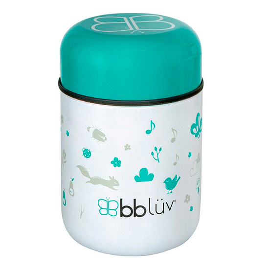 BBLuv Food Thermal Food Container with Spoon 10oz - Aqua_thumb3