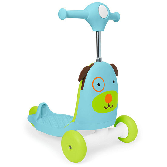 Skip Hop Kids 3-in-1 Ride On Scooter and Wagon Toy - Dog_thumb1_thumb2