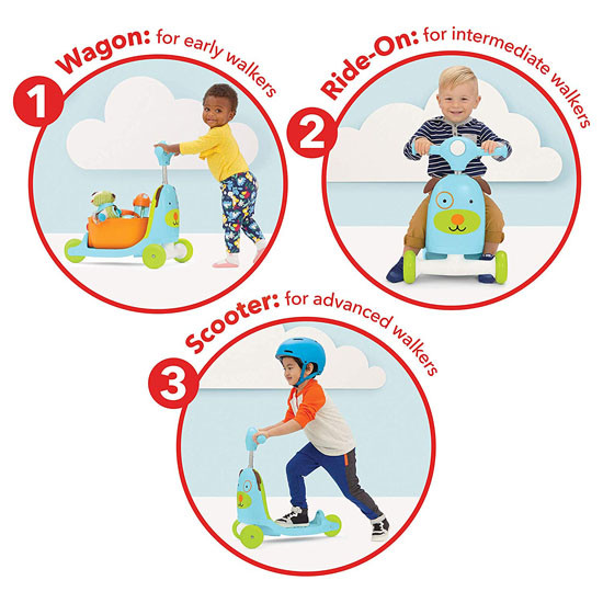 Skip Hop Kids 3-in-1 Ride On Scooter and Wagon Toy - Dog_thumb7