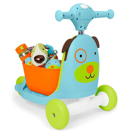 Skip Hop Kids 3-in-1 Ride On Scooter and Wagon Toy - Dog_thumb4