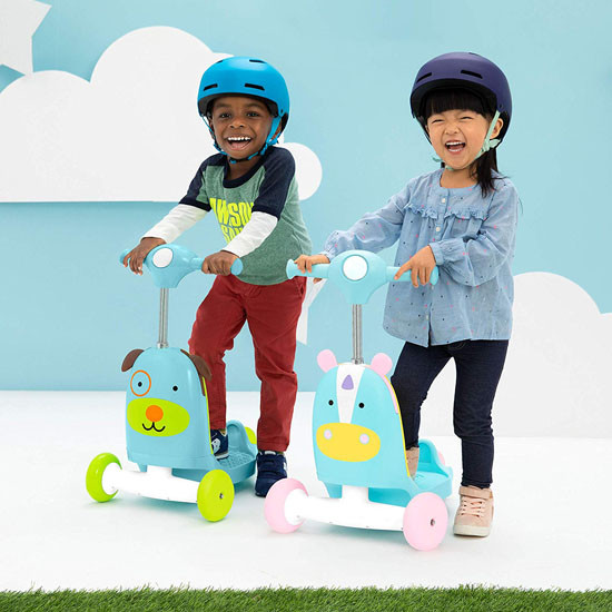 Skip Hop Kids 3-in-1 Ride On Scooter and Wagon Toy - Unicorn_thumb4
