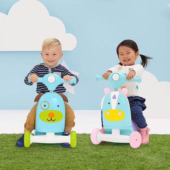 Skip Hop Kids 3-in-1 Ride On Scooter and Wagon Toy - Unicorn_thumb5