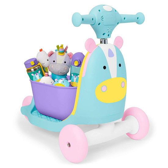 Skip Hop Kids 3-in-1 Ride On Scooter and Wagon Toy - Unicorn_thumb6
