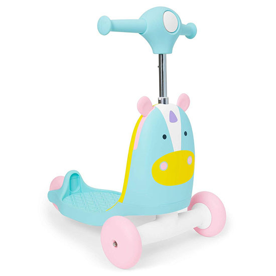 Skip Hop Kids 3-in-1 Ride On Scooter and Wagon Toy - Unicorn_thumb1_thumb2