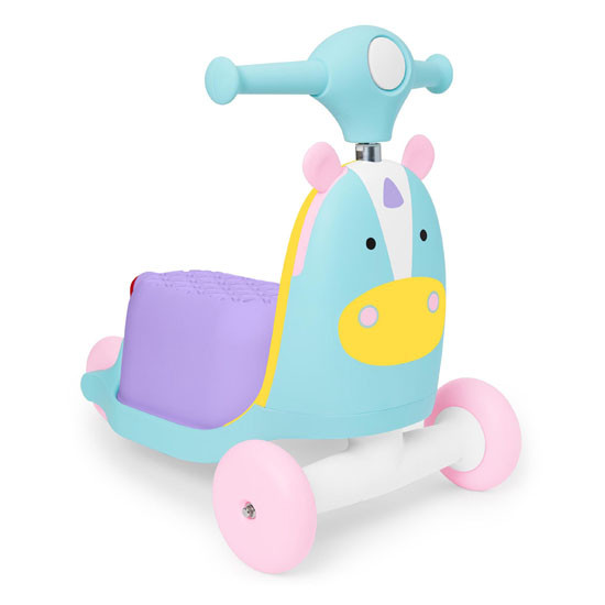 Skip Hop Kids 3-in-1 Ride On Scooter and Wagon Toy - Unicorn_thumb1