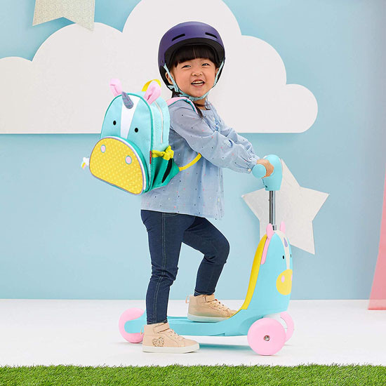 Skip Hop Kids 3-in-1 Ride On Scooter and Wagon Toy - Unicorn_thumb8