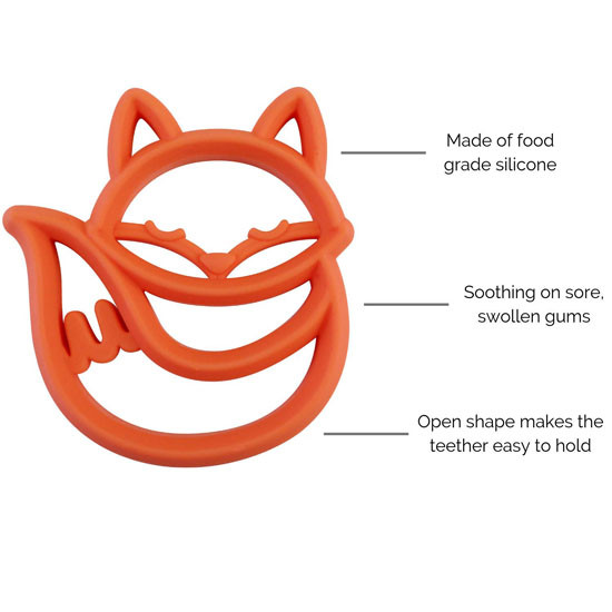 Itzy Ritzy Silicone Baby Teether - Fox_thumb3
