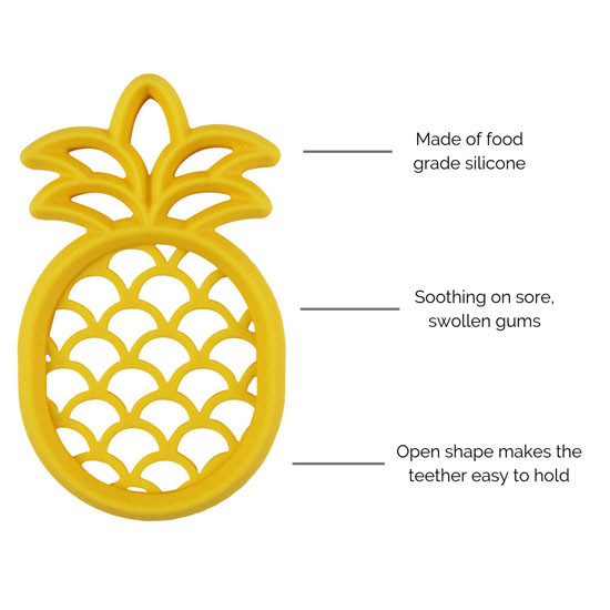 Itzy Ritzy Silicone Baby Teether - Pineapple_thumb4