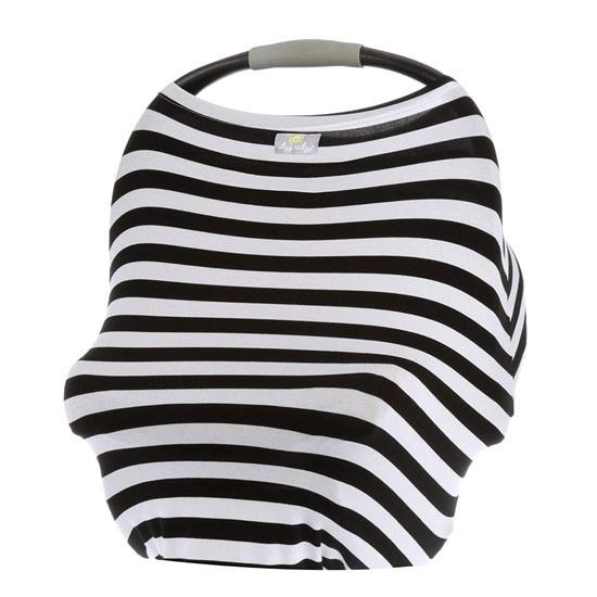 Itzy Ritzy Mom Boss 4-in-1 Nursing Cover - Black/White Stripe Product
