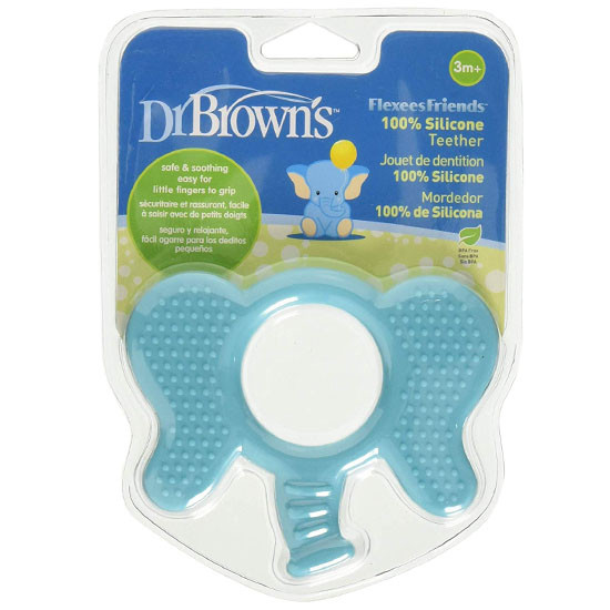 Dr. Brown Flexee Friends Silicone Teether - Elephant_thumb3