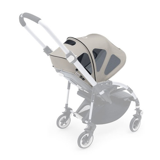 Bugaboo Bee5 Breezy Sun Canopy Grey