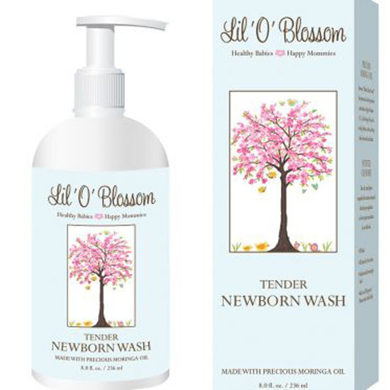 Lil O Blossom Tender Newborn Wash - 8 oz_thumb1