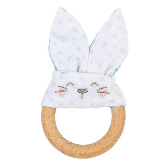 Saro Nature Bunny Teether - Mint Green_thumb1