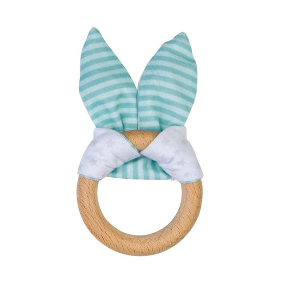 Saro Nature Bunny Teether - Mint Green_thumb1_thumb2