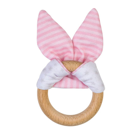 Saro Nature Bunny Teether - Pink_thumb1_thumb2