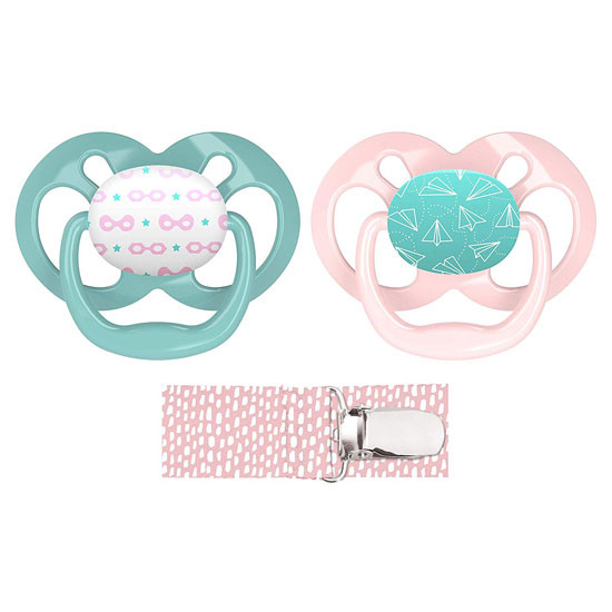 Dr. Brown Advantage Pacifier with Pacifier Clip - Pink_thumb1
