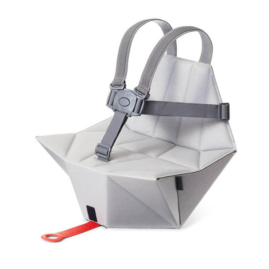 Bombol Pop-Up Booster with Carry Bag and Seat Cover - Pebble Grey_thumb1_thumb2