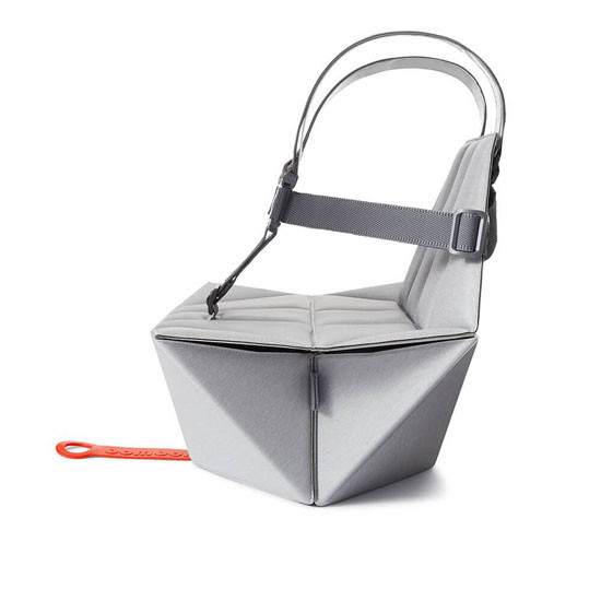 Bombol Pop-Up Booster with Carry Bag and Seat Cover - Pebble Grey_thumb4
