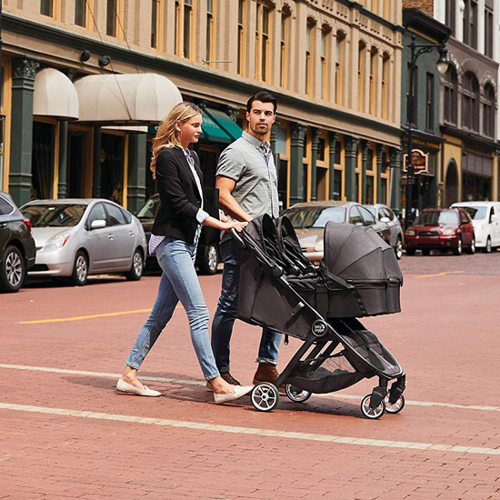 Baby Jogger 2019 City Tour Double Stroller Carry Cot - Jet_thumb4