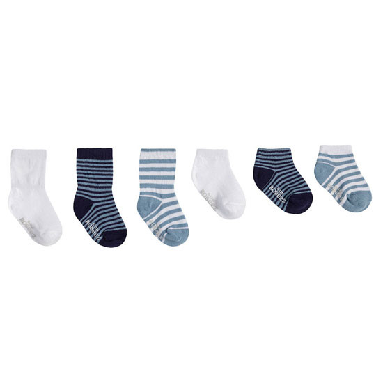 Robeez Essentials Socks 6 Pack - Blue Product