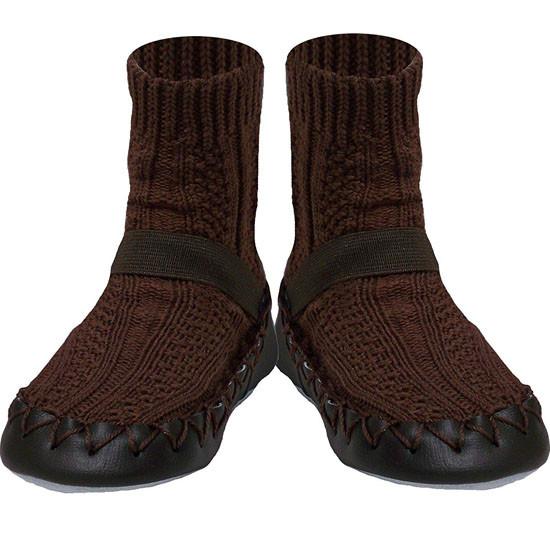 Konfetti Moccasin - Brown Knit_thumb1