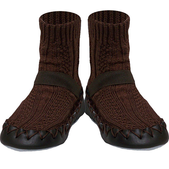 Konfetti Moccasin - Brown Knit Product