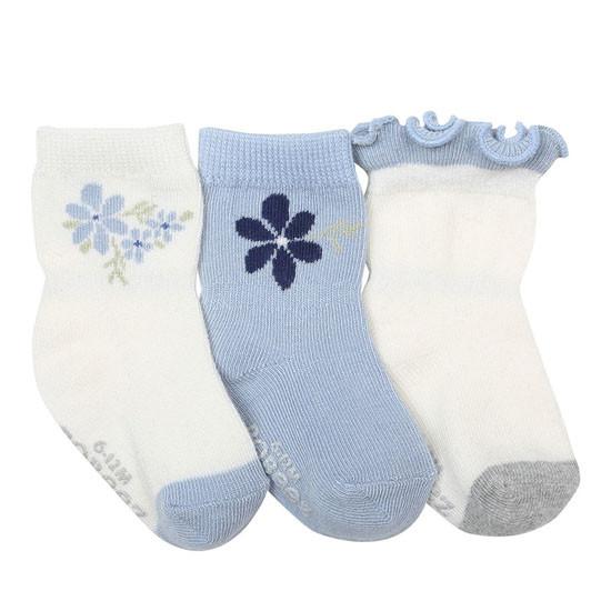 Robeez Pretty in Blue Socks - 3 Pack_thumb1