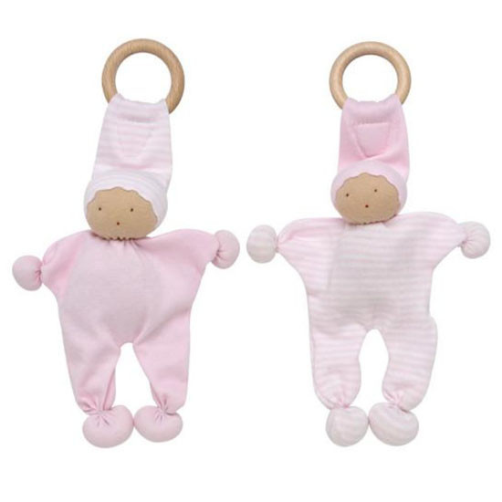 Under the Nile Baby Buddy Teething Toy 2 Pack - Pink Stripe Product