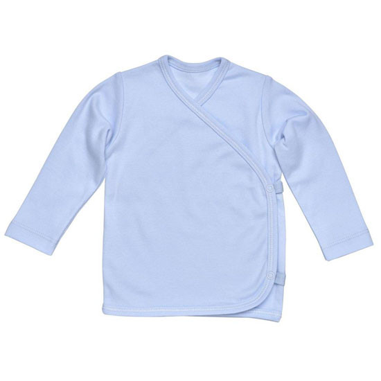Under The Nile L/S Side Snap T-Shirt - Blue_thumb1