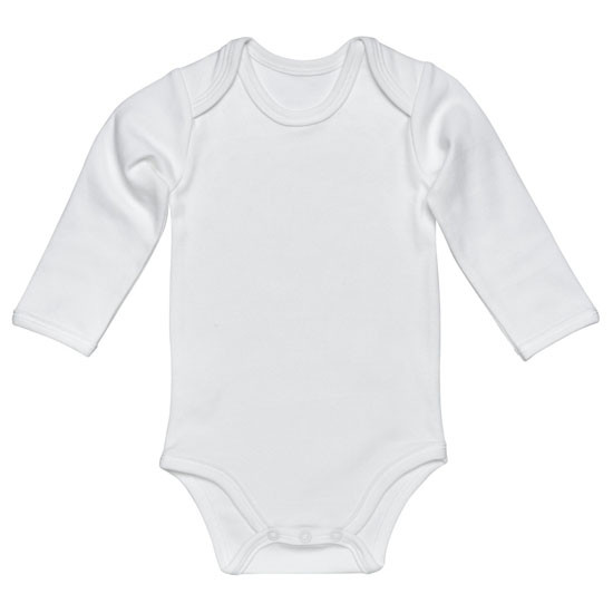 Under the Nile L/S Lap Shoulder Babybody - Off White Product