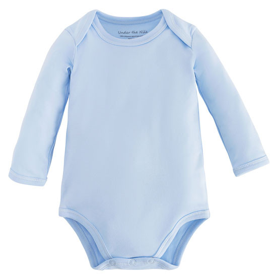 Under the Nile L/S Lap Shoulder Babybody - Blue Product