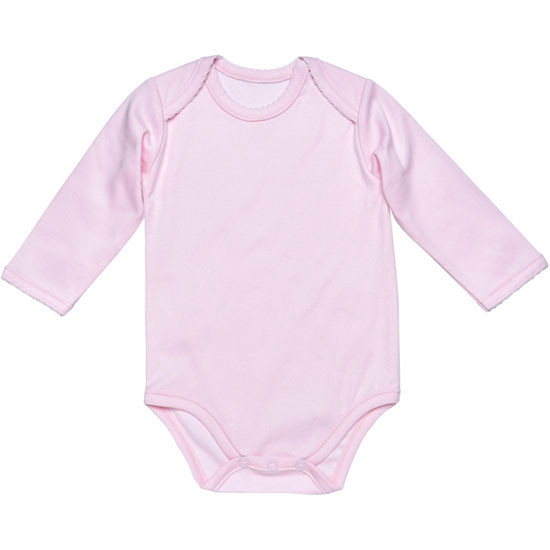 Under the Nile L/S Lap Shoulder Babybody - Pink_thumb1