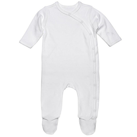 Under The Nile Organic Cotton Footie - Off White_thumb1