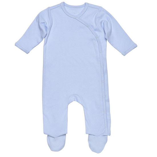 Under The Nile Organic Cotton Footie - Blue_thumb1