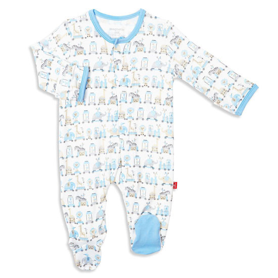 Magnificent Baby Magnetic Me Blue Taj Express Footie_thumb1