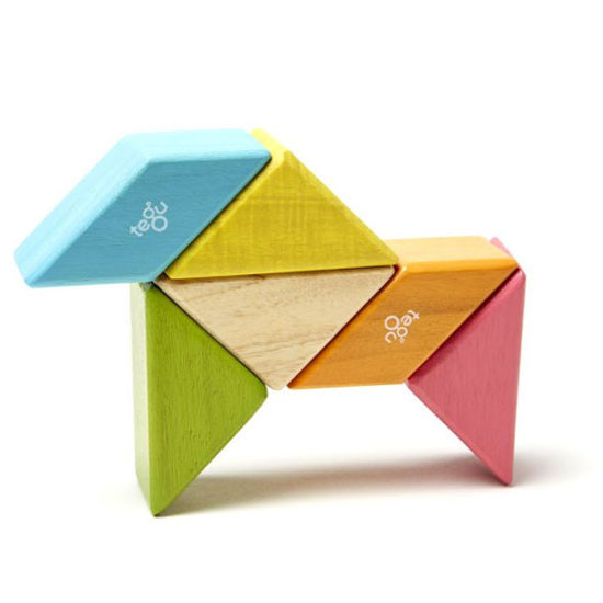 Tegu 6 Piece Pocket Pouch Prism Magnetic Wooden Block Set - Tints_thumb3