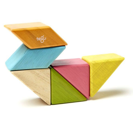 Tegu 6 Piece Pocket Pouch Prism Magnetic Wooden Block Set - Tints_thumb4