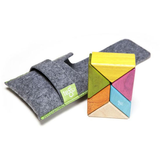 Tegu 6 Piece Pocket Pouch Prism Magnetic Wooden Block Set - Tints_thumb1