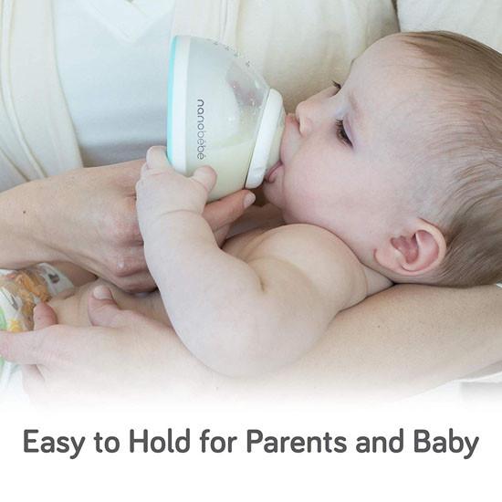 Nanobebe Breastmilk Bottle - Grey - 5 oz_thumb3
