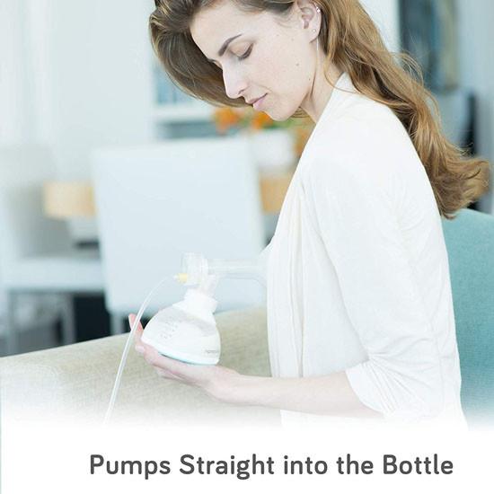 Nanobebe Breastmilk Bottle - Grey - 5 oz_thumb6