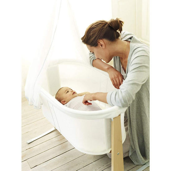 Baby Bjorn Fitted Sheet for Cradle - Organic White_thumb1