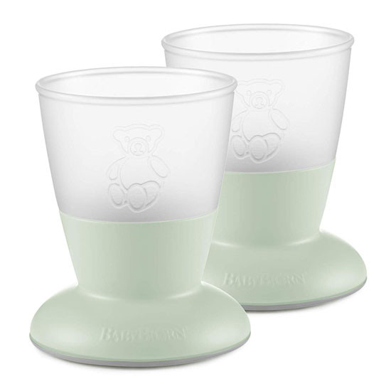 Baby Bjorn Baby Cup - 2 Pack - Powder Green_thumb1