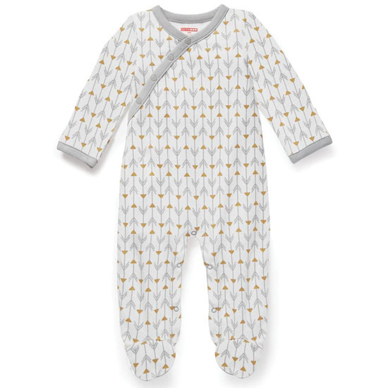 Skip Hop Boho Feather Side Snap Footie - Grey Product