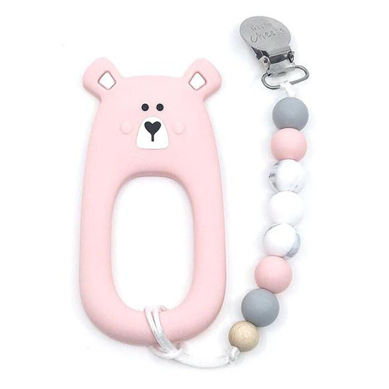 Little Cheeks Bear Clip - Pink Product