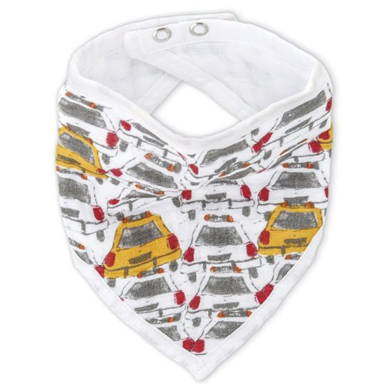 aden + anais White Label Bandana Bib - City Taxis Product