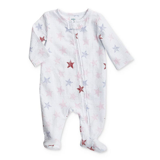 aden + anais Stripple Star Footie - Pink Product