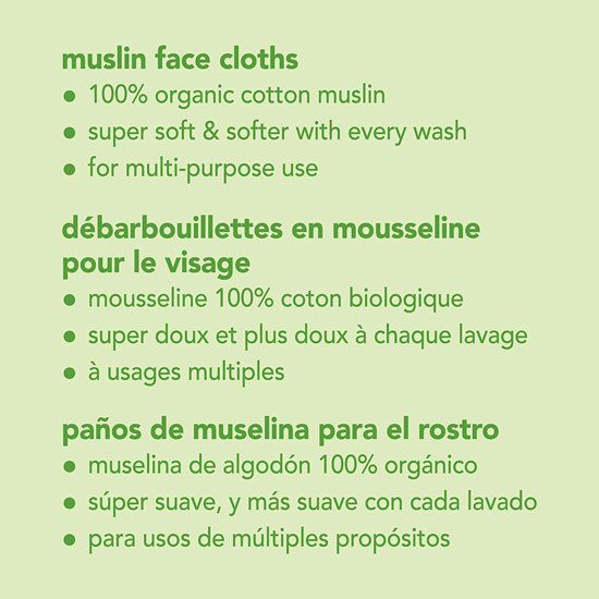i play. Green Sprouts Organic Cotton Muslin Face Cloths_thumb1_thumb2