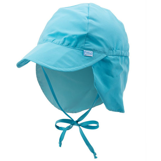 i play. Flap Sun Protection Hat - Aqua_thumb1