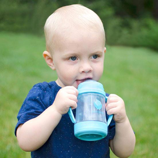 i play. Green Sprouts Glass Sip & Straw Cup - Aqua_thumb1_thumb2
